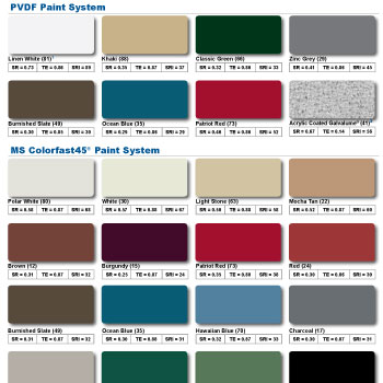 Mueller Metal Buildings Color Chart Pictures To Pin On