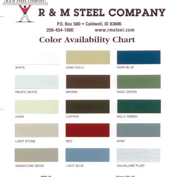 Cupola Kit Color Charts Cupolas For Roofs And Barns