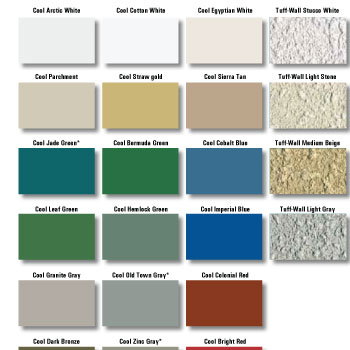Mbci Kynar Color Chart Steel Buildings Color Charts